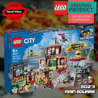 LEGO Original 60271 Main Square Mainan Anak Edukasi Kereta Rumah Lego