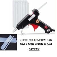 Isi / Refill Lem Tembak Glue Gun 27Cm Isi Ulang Lem Lilin Putih Bening