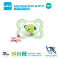MAM Baby Empeng Bayi 0m+ Silikon Baby Air Soother Orthodontic Pacifier