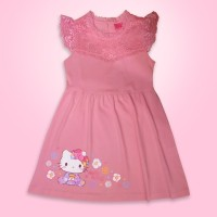 HELLO KITTY Original Kids Brocade Dress Brokat Baju Anak HK9233