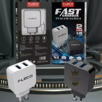 Kepala Batok Adaptor Charger Dual Port 2 USB Fleco F-080 F080 3.1A