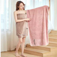 Handuk SET 2 PCS Handuk Mandi Handuk Premium Micro Bulu - love Pink