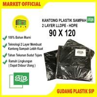 Kantong Plastik Sampah UK 90x120 Merek SIP / 2 LAYER LLDPE, HDPE