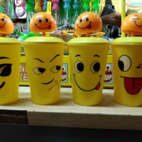 Mainan Gelas plastik minum / Mug spring DoL LED