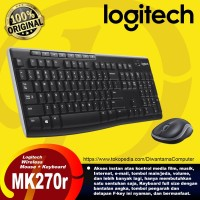 Logitech Combo Wireless Keyboard Mouse MK270r