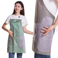 Celemek APRON lap tangan Dapur Masak Koki Chef Anti Minyak Anti Air