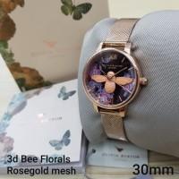 PROMO!! JAM TANGAN OLIVIA BURTON 3D BEE FLORALS MESH