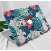 Macbook Mac New Air 13 inch A1932 Cover Hard Case Flower Floral Bunga
