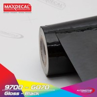 MAX DECAL Vinyl Sticker 152 cm Black Gloss Skotlet Mobil Kilap Meteran