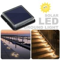lampu hias taman/ jalan panel surya LED solar ground light bergaransi.