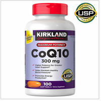 Kirkland Signature CoQ10 300 mg., 100 Softgels Made in USA