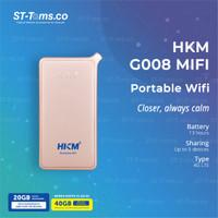 HKM G008 MIFI GLOBAL ROUTER SPEED 4G LTE BUNDLING XL GO IZI UNLOCK - Pink