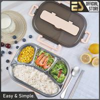 ES Kotak Makan 4 Sekat Serbaguna Kotak Makan Stainless Steel 304