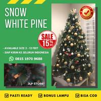 Pohon Natal Premium 1,2 Meter 1.2 / 4Ft SNOW WHITE PINE CHRISTMAS TREE