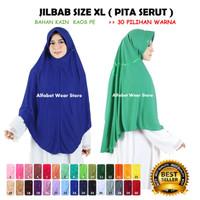 Termurah Jilbab Instan Serut untuk Dewasa Bahan Kaos Ukuran XL - Serut