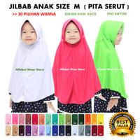 Termurah Jilbab Instan Serut untuk Anak Sekolah Bahan Kaos Ukuran M