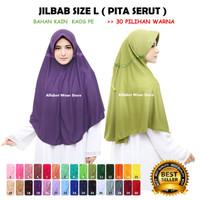 Termurah Jilbab Instan Serut untuk Dewasa Bahan Kaos Ukuran L