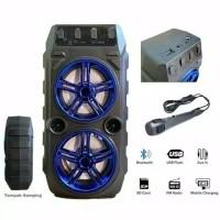 Speaker Bluetooth SX-Y2006 Bonus mic Karaoke Speaker Multifungsi FM Ra - Hitam