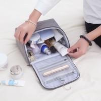 Korean Travel Cosmetic Toiletries Bag -Tas Makeup Kosmetik DENIM