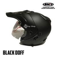 Helm SHEL Adv Semi Cross Solid - Hitam Doff