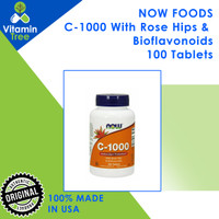 NOW Foods C-1000 100 Tablets / 100 Vegetarian Capsules NOW Vitamin C - 100 Tablets