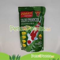 Pelet Pakan Makanan Ikan Koi Hokky Color Enhancer Spirulina Penambah W - M - EXP 6-12 BL