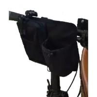 aksesoris sepeda: tas stang, tas seli sepeda lipat - Hitam