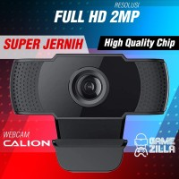 Webcam PC 2MP Full HD 1080P | Web Cam USB Gaming Dual Mic CAL-2003WC
