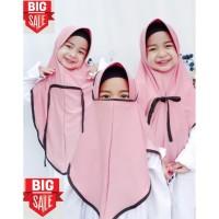 jilbab anak masker 3in1 jersey premium - DUSTY PINK