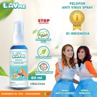 Lavme Hand Sanitizer Spray Anti Virus Organic - 60 ML Original