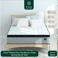 Zinus® Matras 30cm Euro Top Memory Foam Spring Hybrid - Ukuran King