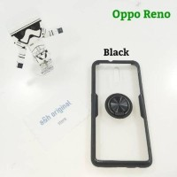 Case Oppo Reno 10 - Case Hybrid with Iring Stand Clear Premium Qualit
