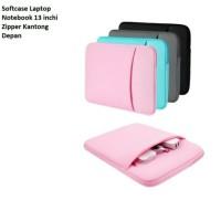Sale Murah Tas Softcase Laptop Notebook 13 inchi Zipper Polos Grey