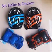 Helm Deker Anak - Set Helm Deker Sepeda Skateboard Sepatu Roda Anak