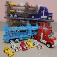 Mainan Mobil Truk Hauler - Mainan Mobil Truk Angkut Mobil