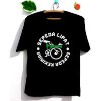 Kaos Sepeda Lipat Pria Wanita Lengan Pendek / Lengan Panjang Katun 30S