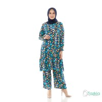 Setelan Muslim Wanita | Freya Set Kaktus| Setelan Rayon Viscose