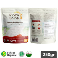 Tepung Beras Merah Organik   250gr   Rice 'n Shine   MPASI
