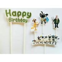 topper hiasan kue cake ulang tahun birthday karakter shaun the sheep