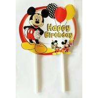 topper hiasan kue cake ulang tahun birthday karakter miki mickey mouse