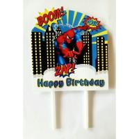 topper hiasan kue cake ulang tahun happy birthday karakter spiderman
