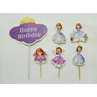 topper hiasan kue cake ulang tahun happy birthday karakter sopia sofia