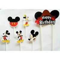topper hiasan kue cake ulang tahun birthday hbd karakter mickey mouse