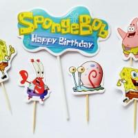 cake topper hiasan kue cake ulang tahun birthday karakter spongebob