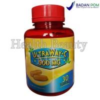 UltraWay-C 500 mg 30 Softgels - Vitamin C Memelihara Daya Tahan Tubuh