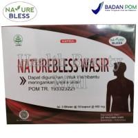 NATUREBLESS Wasir 450 mg 30 Caps - Meringankan Ambeien - Nature Bless