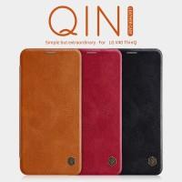 LG V40 THINQ NILLKIN QIN LEATHER ORIGINAL CASING FLIP COVER HARD CASE