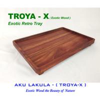 Nampan Kayu Eksotik - Retro Classic Design - [TROYA-X]