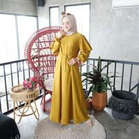 [REAL PICTURE] FATIMA CLASSIC DRESS HAZELNUT IMPORT TANAH ABANG PGMTA