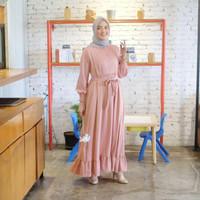 [REAL PICTURE] ILONA SWEET DRESS HAZELNUT IMPORT TANAH ABANG PGMTA